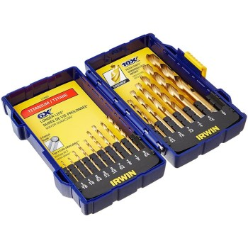 15pc Tin Drill Bit Set
