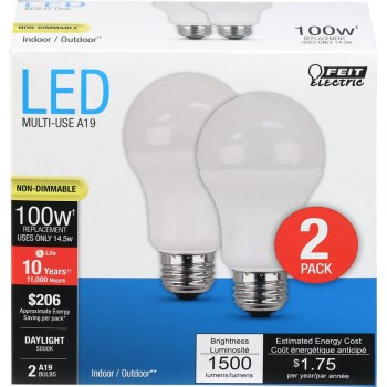 Feit Electric  A1600/850/10KLED/2 Led Bulb