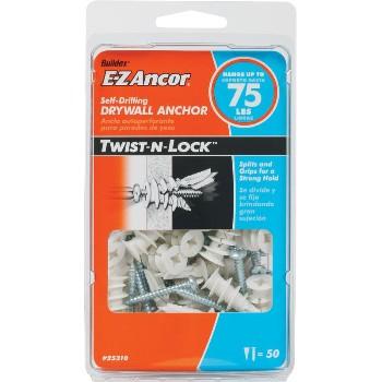 ITW/Ramset 25310 Twist-N-Lock  Drywall Anchor, 75 lb ~  Pack of 50