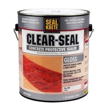 Clear Seal Concrete Protective Sealer, Clear Gloss ~ Gallon