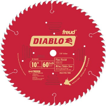Freud/Diablo D1060X Finish Blade, 60T ~ 10""