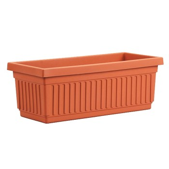 "Venetian Style Flower Box, Clay Color ~  Approx 18"" x 7.5"" x  7"""