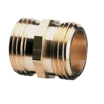 "Brass Double Male Hose Fitting ~ 3/4""MH x 3/4""MH"