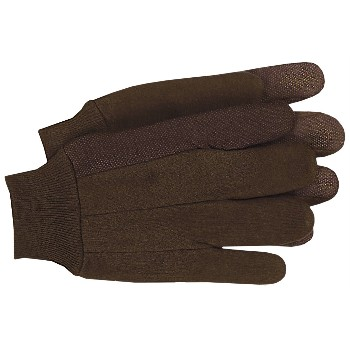 Jersey Work Gloves - Plastic Dot/Clute Cut, Large