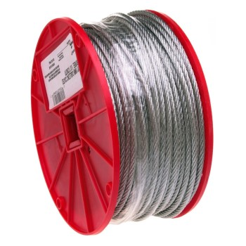 "Uncoated Cable ~ 1/4"" x 250 Ft"