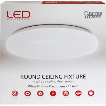 Round LED Ceiling/Wall  Light Fixture ~ 1300 Lumens
