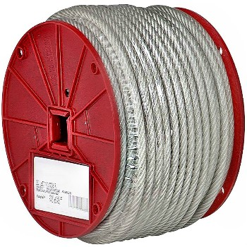"Vinyl Coated Cable ~ 3/16"" x 250 Ft"