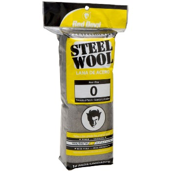 Steel Wool Pads,  #0 Fine  ~ 16 Pads/Pack