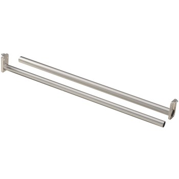 Adjustable Closet Rod, Satin Nickel ~ 48-72in.