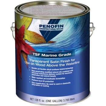 TSF Marine Grade Transparent Finish for Above the Waterline, Satin ~ Gallon