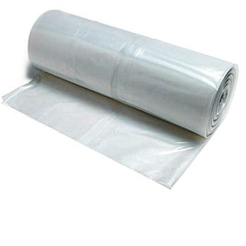 Coveral Plastic Sheeting, Clear ~  15 x 25 Ft x  6 Mil