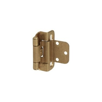 Inset Hinge - Self Closing - Burnished Brass Finish - 3/8 inch