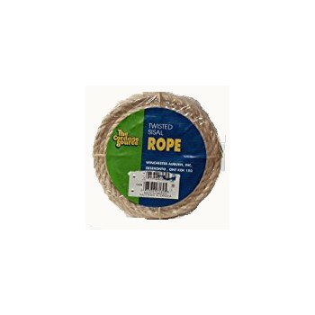 "Twisted Sisal Rope, 1/4"" x 50 feet"