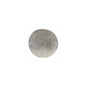 Round Cover Blank, Weather Proof Gray 4 inch
