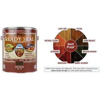 Ready Seal Wood Stain and Sealant, Walnut  ~ Gallon