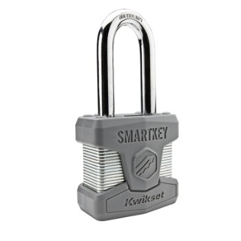 Kwikset 90260-002 SmartKey Padlock ~ Long Shackle