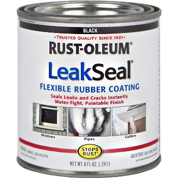 LeakSeal Flexible Rubber Coating, Black ~ 8 oz