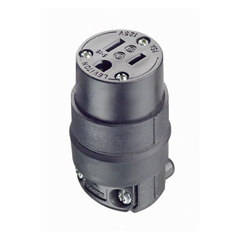Connector, Female ~ Rubber, 15A-125V