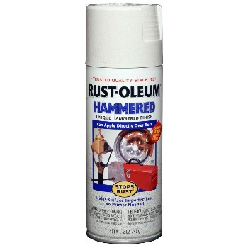Hammered Spray, Stops Rust - White ~