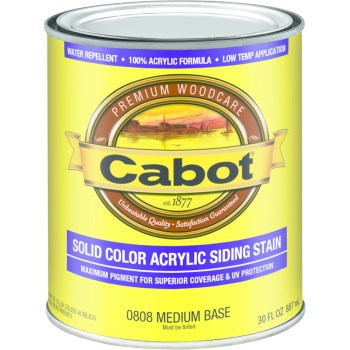 Acrylic Siding Stain, Medium Base ~ Quart