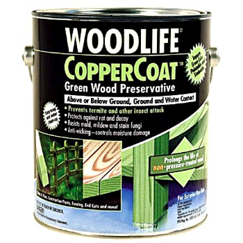 Wood Preservative, CopperCoat Green ~ Quart