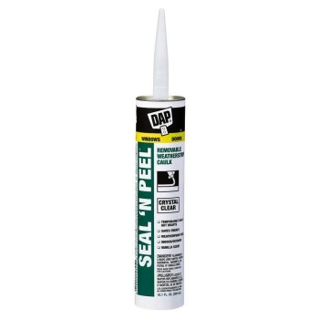 Seal & Peel Removable Weatherstripping Sealant, Clear ~ 10.1 oz Tubes