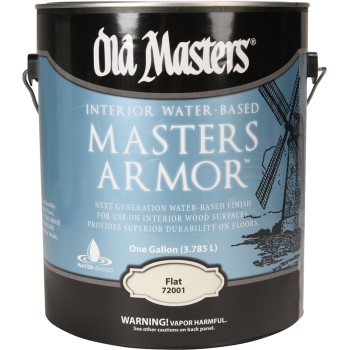 Master Armour Polyurethane Finish,  Clear Flat ~ Gallon