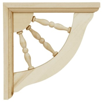 Small Spindle Shelf Bracket, 7 x 7 inches.