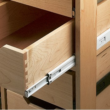 Drawer Slides ~ Side Mount Anachrome,  22""