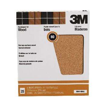 3M 051144994168 Sandpaper, Garnet Mineral ~ 80 grit