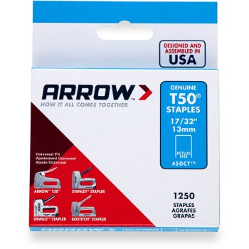 Arrow Fastener 50CT24 Staples - T50 Arrow Staple - 17/32 inch