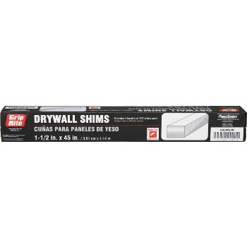 "Prime Source GRDWSHIM Drywall Shims ~ 1 1/2"" x 45"""