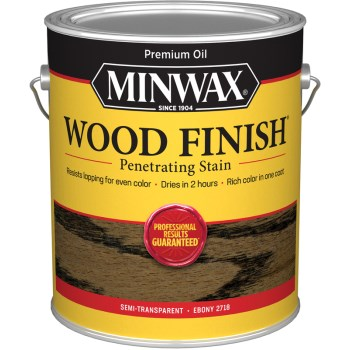 Wood Finish Penetrating Stain, Ebony ~ Gallon