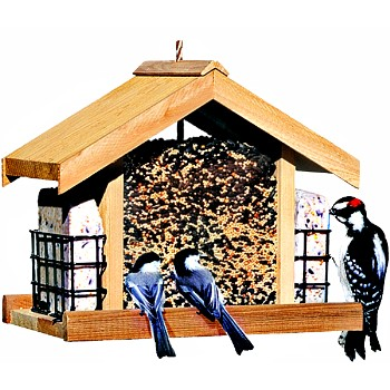 Deluxe Cedar Chalet Bird Feeder Dan River Farms 1