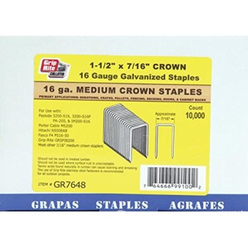 "Staples, Electro-Galvanized ~ 7/16"" x 1 - 1/2"""