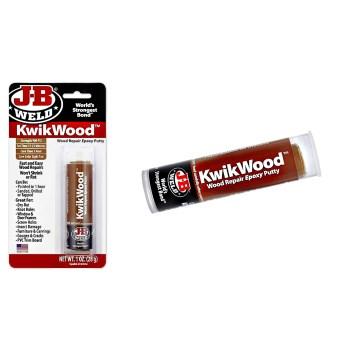 J-B Weld 8257 Kwikwood Epoxy Putty Stick, Dries to Light Tan ~ 1 oz