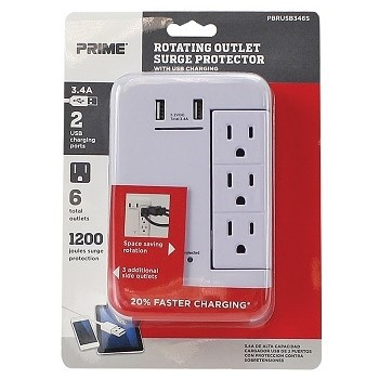 6 Outlet Tap Usb