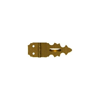 Solid Brass/Antique Brass Hasp, Visual Pack 1824 5/8x1-7/8