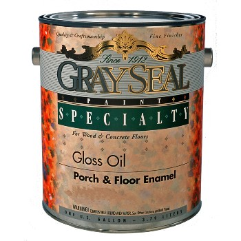 California Prod/GraySeal  Porch & Floor Enamel, Light Oak ~1 Gal
