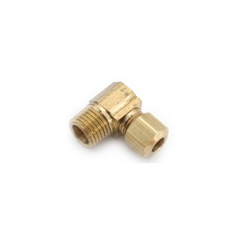 Brass Compression Fitting w/Male Elbow ~ 3/8""