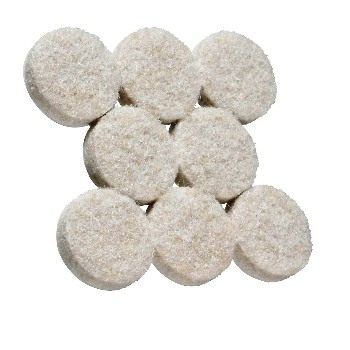 National 237107 Round Felt Pads, Neutral  Color ~ 7/8""