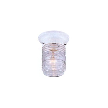 Outdoor Ceiling Fixture, White