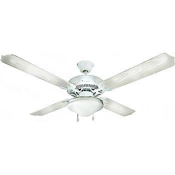 Ceiling Fan, Jamaica-Indoor/Outdoor ~ White/52""