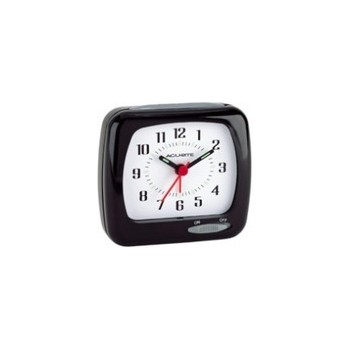 Quartz Alarm Clock - Black