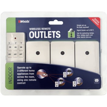Woods Indoor Remote Control ~ 3 Pack