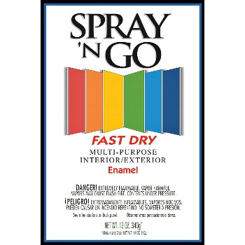 Rust-Oleum 51104830 Spray N Go Specialty Enamel~Gloss Black