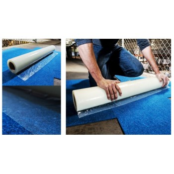 "Temporary Carpet Protection Shield, Self Adhesive ~ 24"" x 50 Ft"