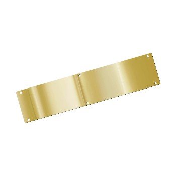 "Push Plate, Solid Brass ~ 3.5"" x 15"""
