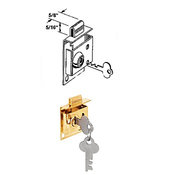 Mailbox Lock, Brass Plated