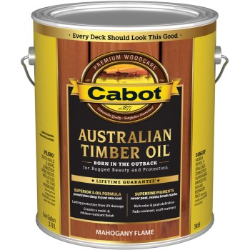 Cabot 01-3459 Australian Timber Oil, Mahogany Flame ~ Gallon
